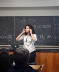 Arami Walker performing her spoken word